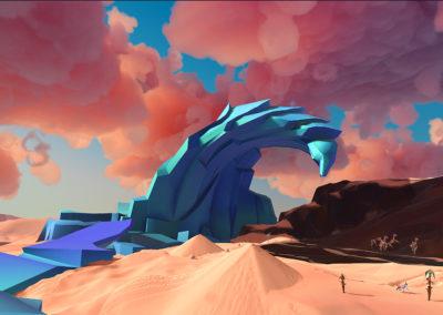 Paper Beast blue mountain